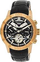 Heritor Automatic HERHR4106 Hamilton Black/Rose Gold Leather Band Watch