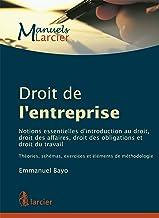 Livres Droit de l'entreprise: Notions essentielles d'introduction au droit, droit des affaires, droitt des des obligations et droit du travail (Manuels Larcier) PDF