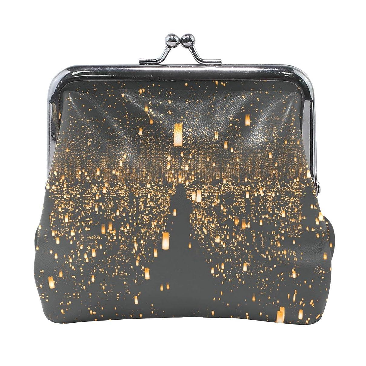 負秋炎上がま口 財布 口金 小銭入れ ポーチ ライト 光 ANNSIN バッグ かわいい 高級レザー レディース プレゼント ほど良いサイズ