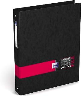 Oxford ActiveFile Classeur 4 Anneaux Dos 40 mm Format A4+ Couverture Carte Pelliculée Couleur Aléatoire
