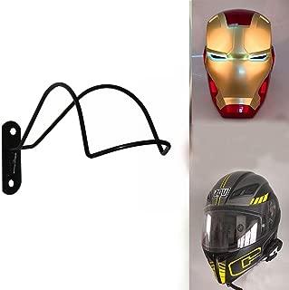 Professional Design - Wall Mounted Helmet Rack Storage Display Rack for Motorcycle / Hockey / Equestrian / Baseball / Bat / Iron Man Helmet/Scout Trooper Fire/Helmet(Helmet not included)