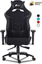 GreenSoul Monster Pro Series Gaming/Ergonomic Chair in Fabric and PU Leather (GS-734P) (Full Black) (Size- Large)