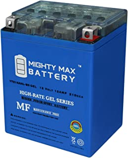 Mighty Max Battery YTX14AHL Gel 12V 12Ah Battery for Norton 850 Commando 1973-1977 Brand Product