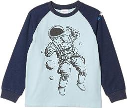 Astronaut Print Baseball Tee (Toddler/Little Kids/Big Kids)