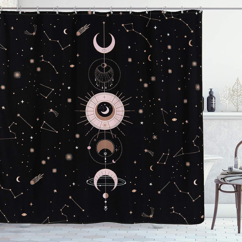 YoKii Zodiac Constellation Fabric Shower Ranking TOP5 Curtain and Selling Blush Sun
