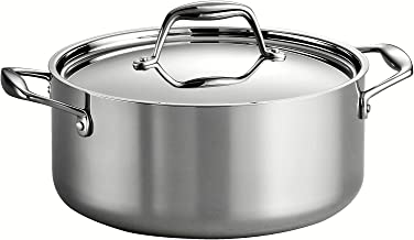 Tramontina 80116/025DS Gourmet Stainless Steel Induction-Ready Tri-Ply Clad Covered Dutch..