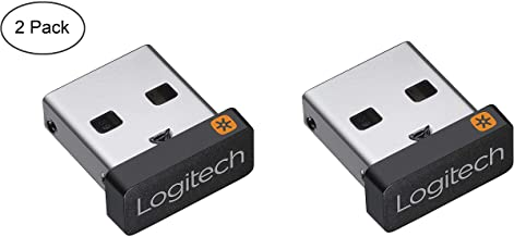 Low Profile Tiny USB Unifying 3mm Pico Small Receiver See Product Images Newest Edition Connect Up to 6 Compatible Keyboards Combos Mice Mouse with Unifying Logo Orange Star Asterisk