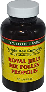 Triple Bee Complex Royal Jelly, Bee Pollen Propolis (90 Capsules)