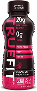 RSP TrueFit Shake - Protein Meal Replacement Drink, Grass-Fed, Organic Real Food Ingredients, Probiotics, Zero Sugar, Glut...