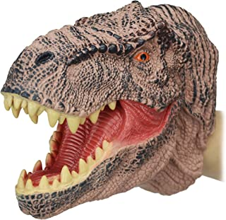 Zerospace Dinosaur Hand Puppets Toys, Dino Head Puppet Role Play Toy for Kids, Large Soft Rubber Realistic Tyrannosaurus Rex Head 9 inch