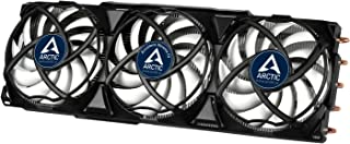 Arctic Accelero Xtreme IV - Enfriador de Tarjeta de Video, 3 Ventiladores de PC de 92 m, 900 RPM a 2000 RPM, silencioso - Blanco y Negro