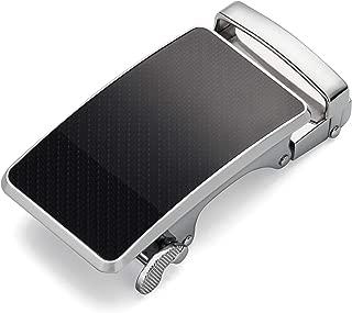 """Men's Ratchet Belt Buckle Only 35mm,Automatic Slide Buckle for Belt Strap 1 3/8"""""""