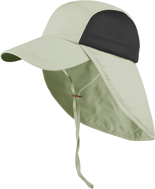 Juniper Opening large release sale Taslon online shopping UV Cap with Elastic Flap Velcro Adjustable