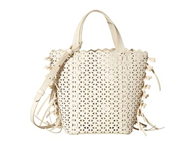 ZAC Zac Posen Lacey Bow North/South Shopper (Swan) Handbags