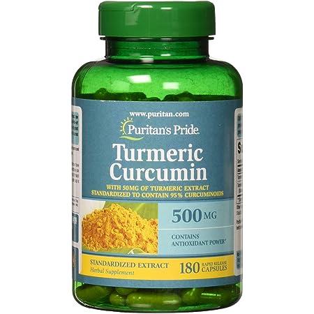 Puritan's Pride Turmeric Curcumin 500 mg-180 Capsules