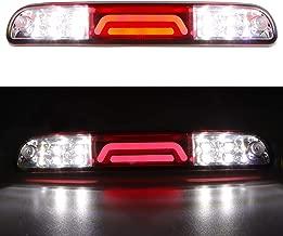 For Ford F250 F350 Super Duty/Ranger/Explorer Sport/Mazda B-Series 3D 3rd Third Brake Light Cargo Light LED Light Bar High Mount Lamp Stop Tail Light 11th 12th Chrome Housing (Red)