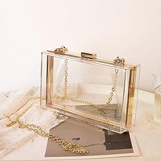 NYSJLONG Taschen für Frauen Transparente Gelee-Tasche Luxus-Umhängetasche Quadratische Umhängetaschen Damen Geldbörsen und...