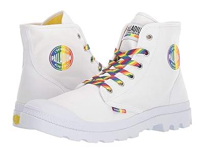 Palladium Pampa Pride Boot (White) Lace-up Boots