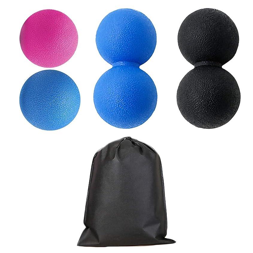 森林する封筒Migavan 2本マッサージボールローラーバックマッサージボール収納袋が付いている別の様式のマッサージのローラーボールのマッサージャー