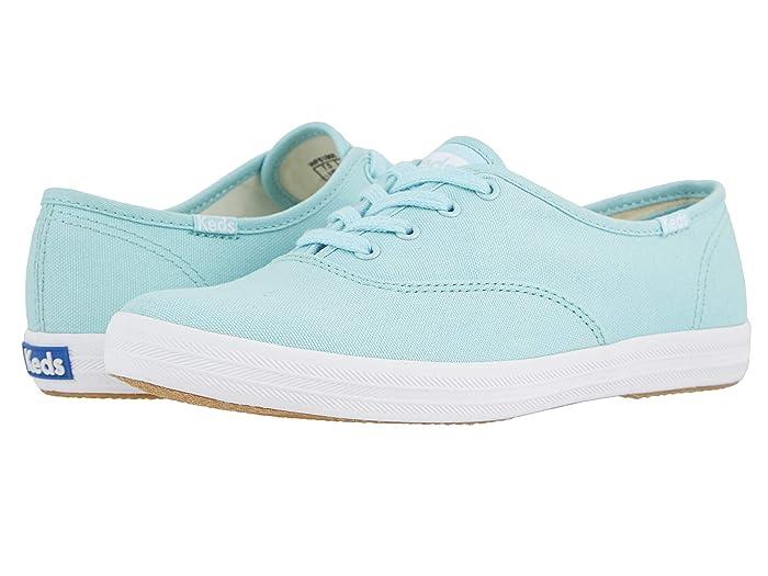 60s Shoes, Boots Keds Champion Seasonal Solids Aqua Womens Lace up casual Shoes $49.95 AT vintagedancer.com