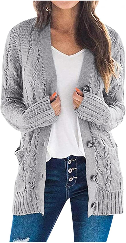 Cardigan for Women Button,Women Casual Cartoon Hoodies Long Sleeve Pocket Sweater Long Sleeve Outwear