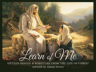 Simon Dewey Learn of Me- Minicard Pack- 16 Cards- 3x4- Bible Verses from The Life of Christ- Artwork