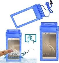 Acm Waterproof Bag Case Compatible with Akshat Rivo Rhythm Rx550 Phablet Mobile (Rain,Dust,Snow & Water Resistant) Blue