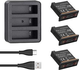 Powerextra dji Osmo Action 3 x Baterías con Cargador de 3 Canales para dji Osmo Action Cámara