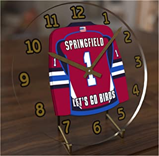FanPlastic AHL American Hockey League Jersey Themed Desktop Clocks - All A H L Team Colours Available - Support Your Team !!!