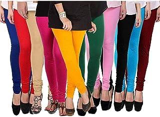 ZAKOD Latest Fashion Leggings For Women,100% Cotton Leggings,Free Size Leggings(Combo Of 10)