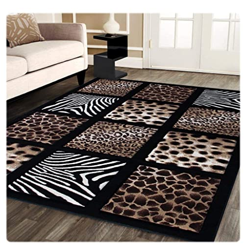 7f30f4353a Sculpture Modern Area Rug Animal Prints 5 Ft. 2 In. X 7 Ft.