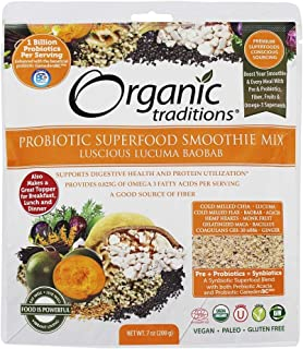 ORGANIC TRADITIONS Probiotic Smoothie Mix Luc Baobab, 200 GR