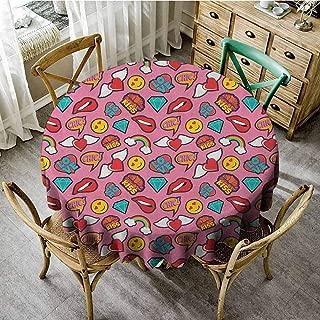 Plaid Round Tablecloth 60