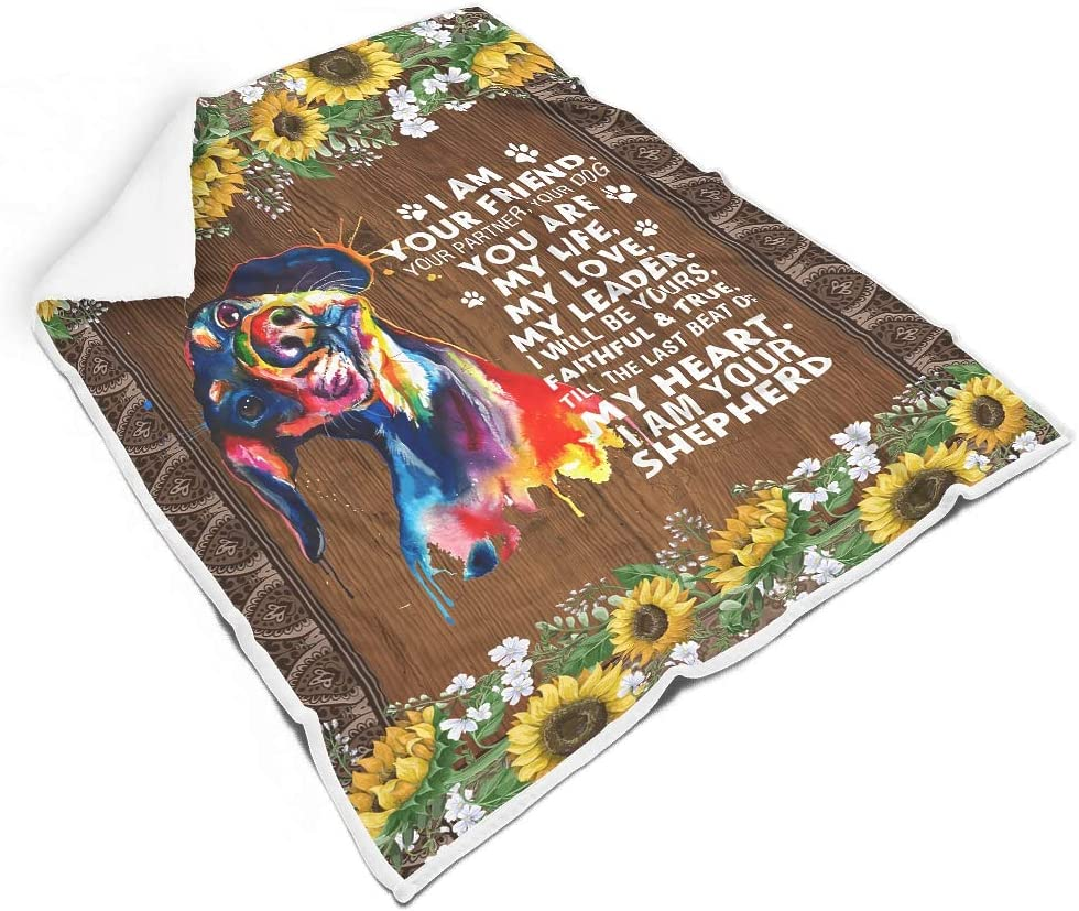 chvcodd A surprise price is realized I Factory outlet Am Your Dog Friend Square Life Fleec Polar Love Carpet