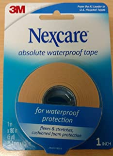 Nexcare Absolute Waterproof Wide Tape, 1 X 5 yd. Per Roll (4 Rolls) - coolthings.us