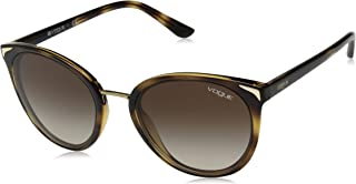 VOGUE Women's VO5230S Butterfly Sunglasses, Dark Havana/Brown Gradient, 54 mm