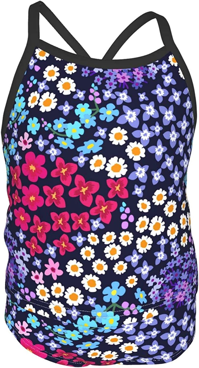 Blue Lavender and Chamomiles Fields Tankini Credence Swims 55% OFF Girls' 2-Piece