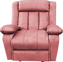 Classic Recliner Rocking Chair with Controllable Back - Pink