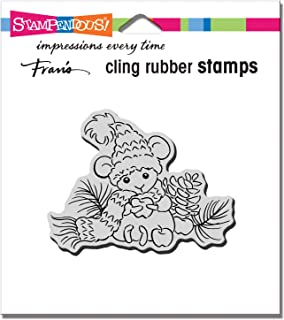 STAMPENDOUS Cling Rubber Stamp APPL Mouse