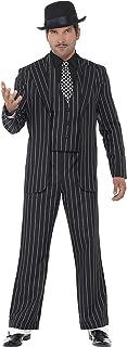 Smiffy's Men's Vintage Gangster Boss Costume, Jacket, Tie, Waistcoat Mock Shirt and Pants, 20's Razzle Dazzle, Serious Fun...