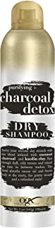 OGX Purifying + Charcoal Detox Dry Shampoo Spray with Activated Charcoal & Kaolin Clay for Fresh Full Hair, Dry Shampoo to Absorb Excess Oil & Revive Dull Second-Day Hair, 5 Ounce