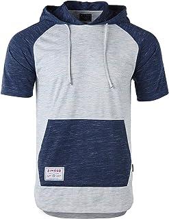 ZIMEGO Men's Short Sleeve Pullover Hoodie Lightweight Soft Jersey Hooded T-Shirt