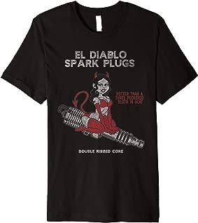 El Diablo Spark Plugs Distressed She-Devil Runs Hot Sloth  Premium T-Shirt