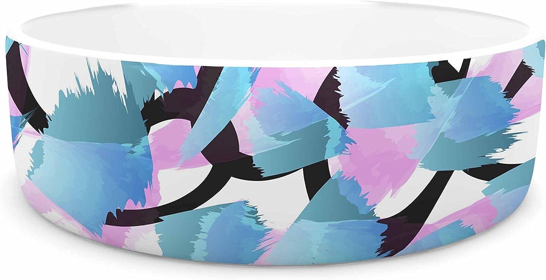 KESS InHouse Angelo Cerantola Serenity bluee Pink Pet Bowl, 7