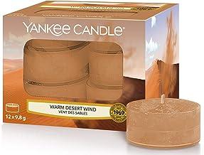 Yankee Candle Warm Desert Wind waxinelichtjes, was, oranje, 8,4 x 8,4 x 6,1 cm