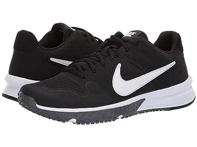 Nike Alpha Huarache Varsity Turf (Black/White/Thunder Grey/Oil Grey) Men
