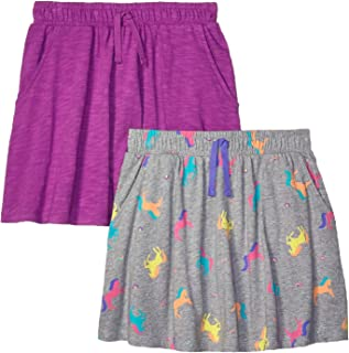 Amazon Brand - Spotted Zebra Girl's Toddler & Kid's 2-Pack Knit Twirl Scooter Skirts