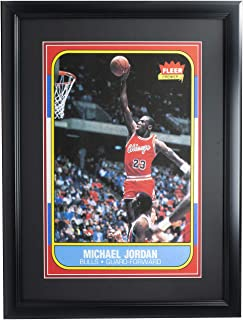 Michael Jordan Framed 12x18 1986 Fleer Chicago Bulls Card Photo