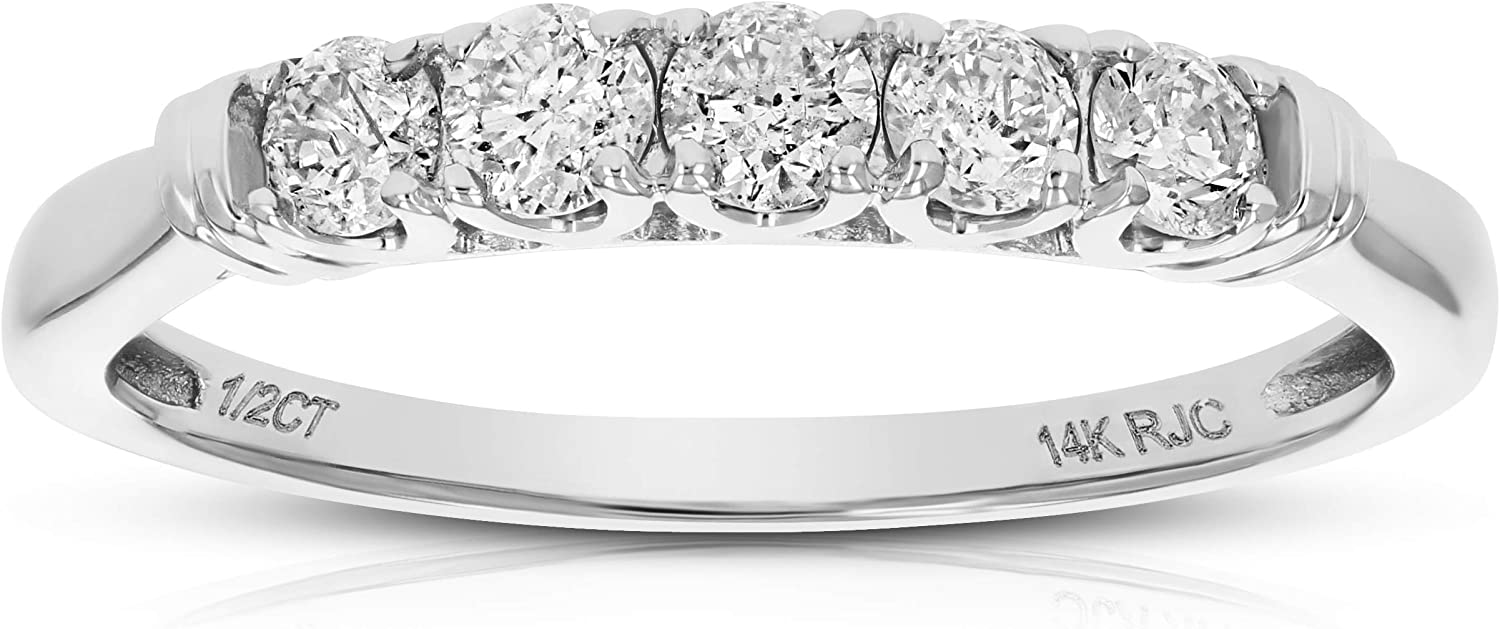 Vir Max 78% OFF online shopping Jewels 1 2 cttw 5 Stone Engagement Bridal Diamond 10 Ring in