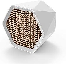 QHGao Calentador De Espacio Portátil, Ventilador De Calentador De Termostato Portátil De Enfriamiento De Calefacción 2-1, Calentador De Habitación De Cerámica Pequeña Hexagonal De 600 W